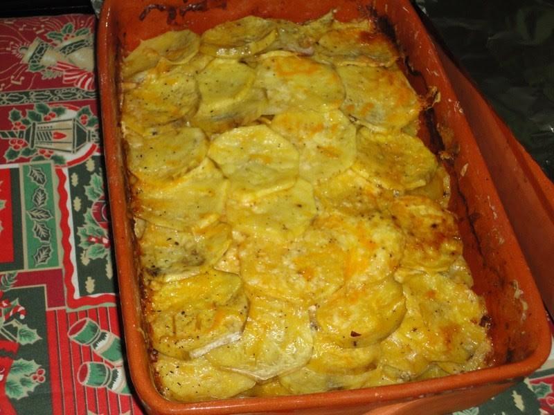 Batata-doce no forno gratinada