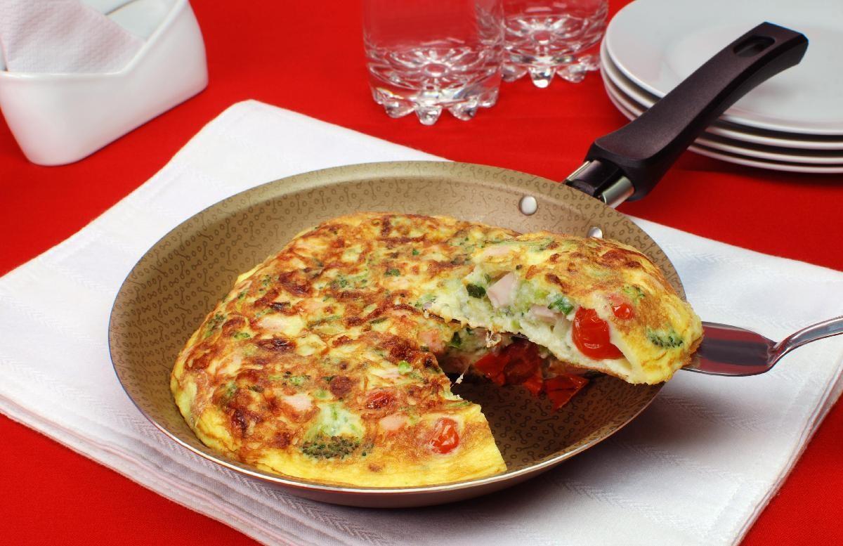 receita de omelete de brocolis light