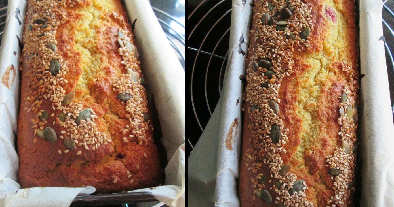 Pão de sementes de abóbora e noz moscada