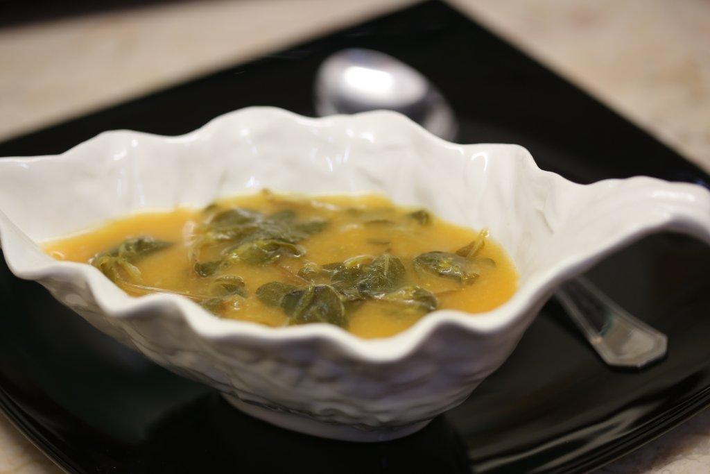 Sopa da Abóbora com Beldroega