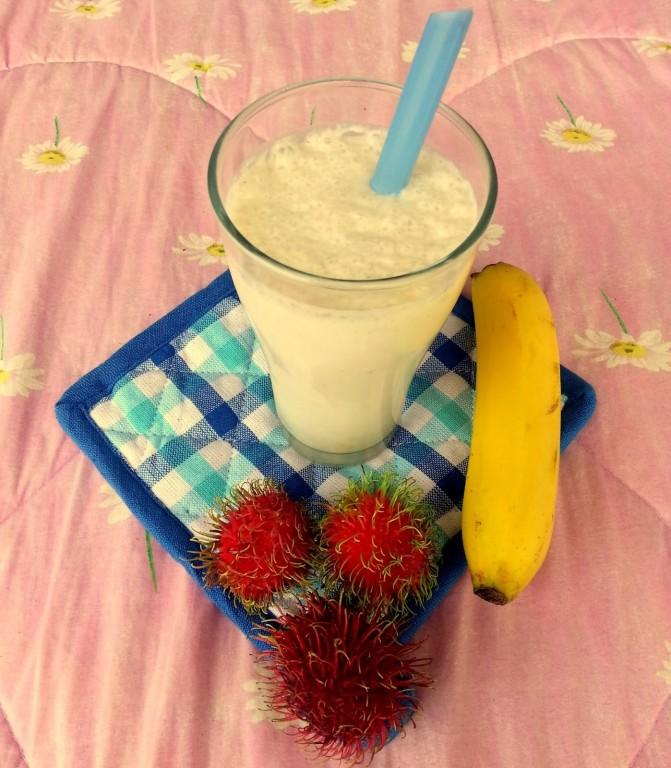 Smoothie de Rambutan com Banana